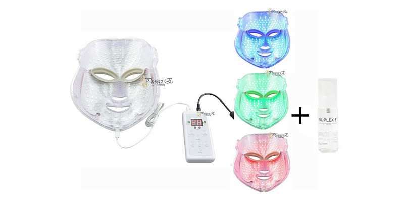 project e beauty photon therapy red blue green light mask. Black Bedroom Furniture Sets. Home Design Ideas